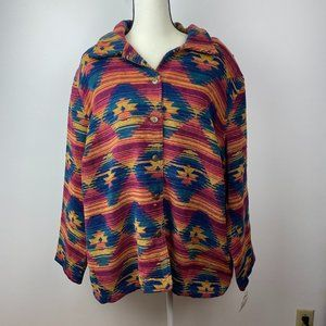 NWT VTG Alfred Dunner Multicolored Western Shacket